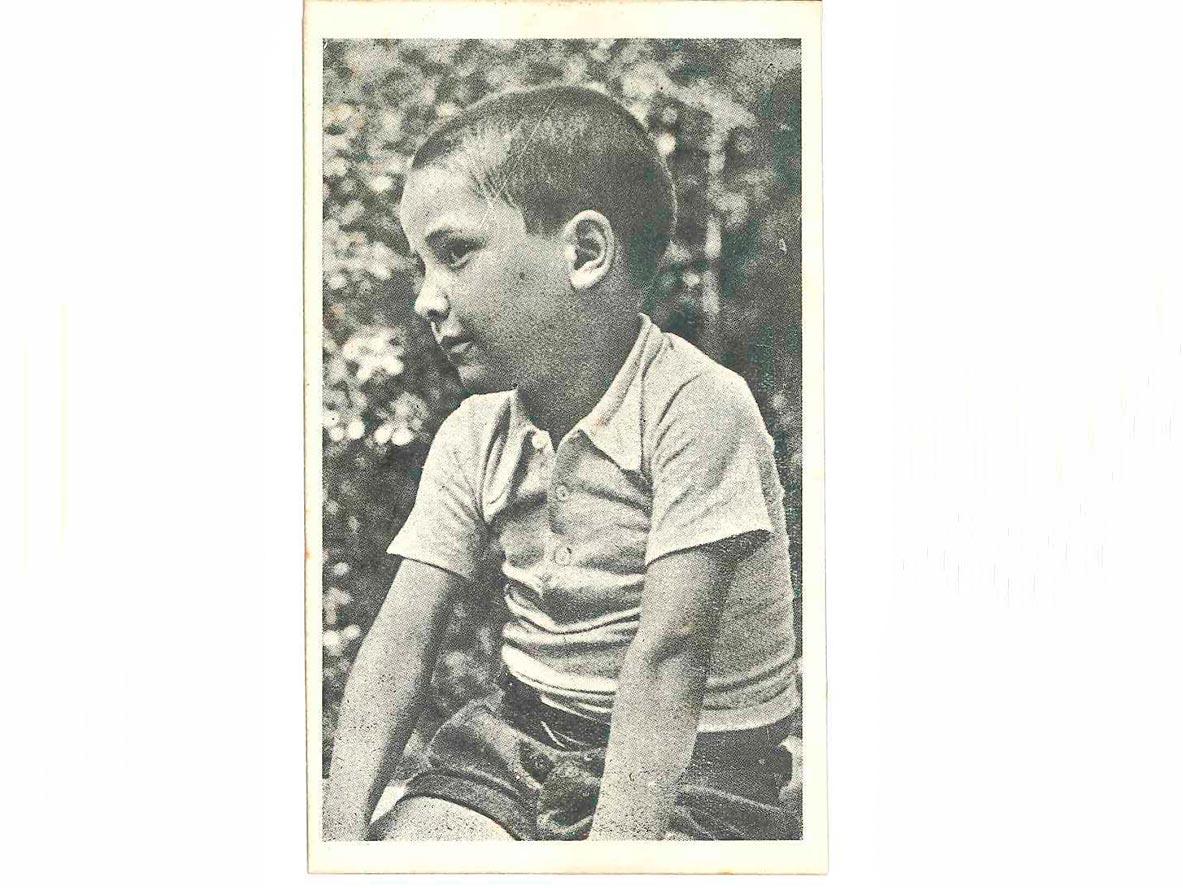 Targeta postal de la serie Asociación de Auxilio al Niño del Pueblo Español