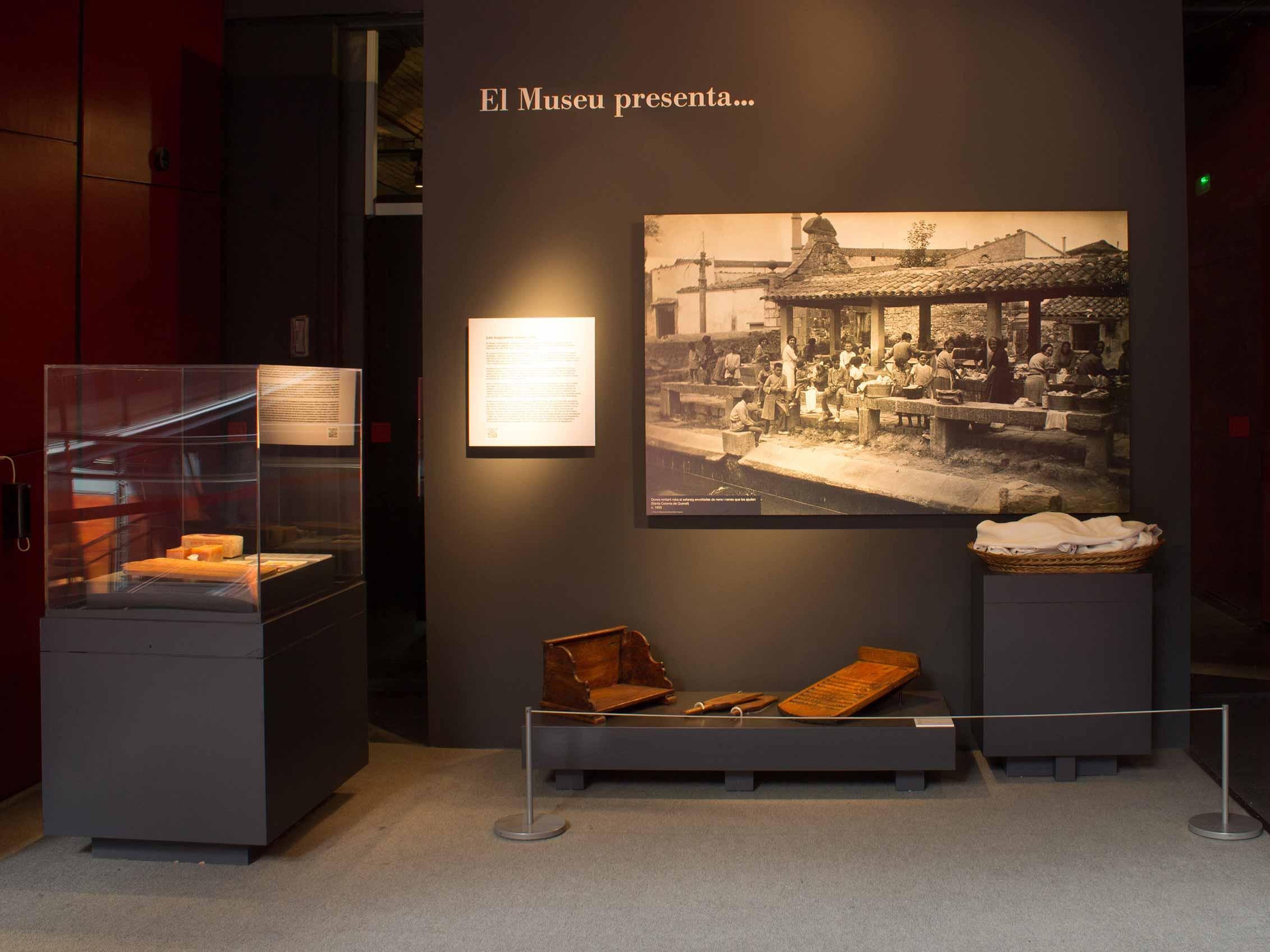 Vista general de l'espai «Museu presenta...»