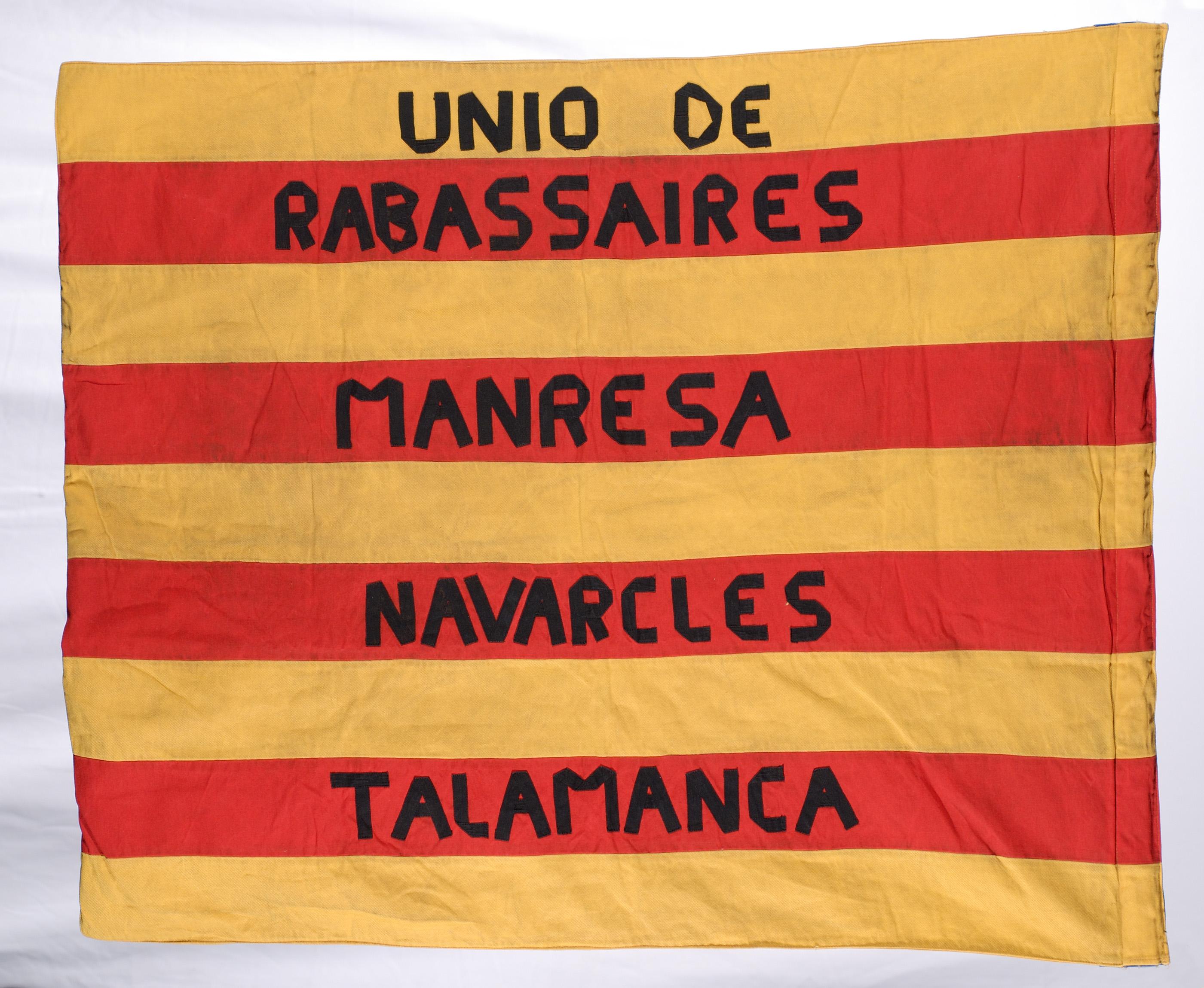 Unió de rabassaires. Manresa, Navarcles, Talamanca (revers)