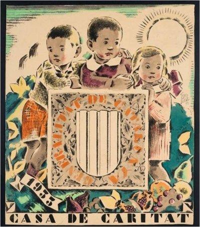 Calendari de la Casa de Caritat per a 1933, de Josep Obiols (1932)