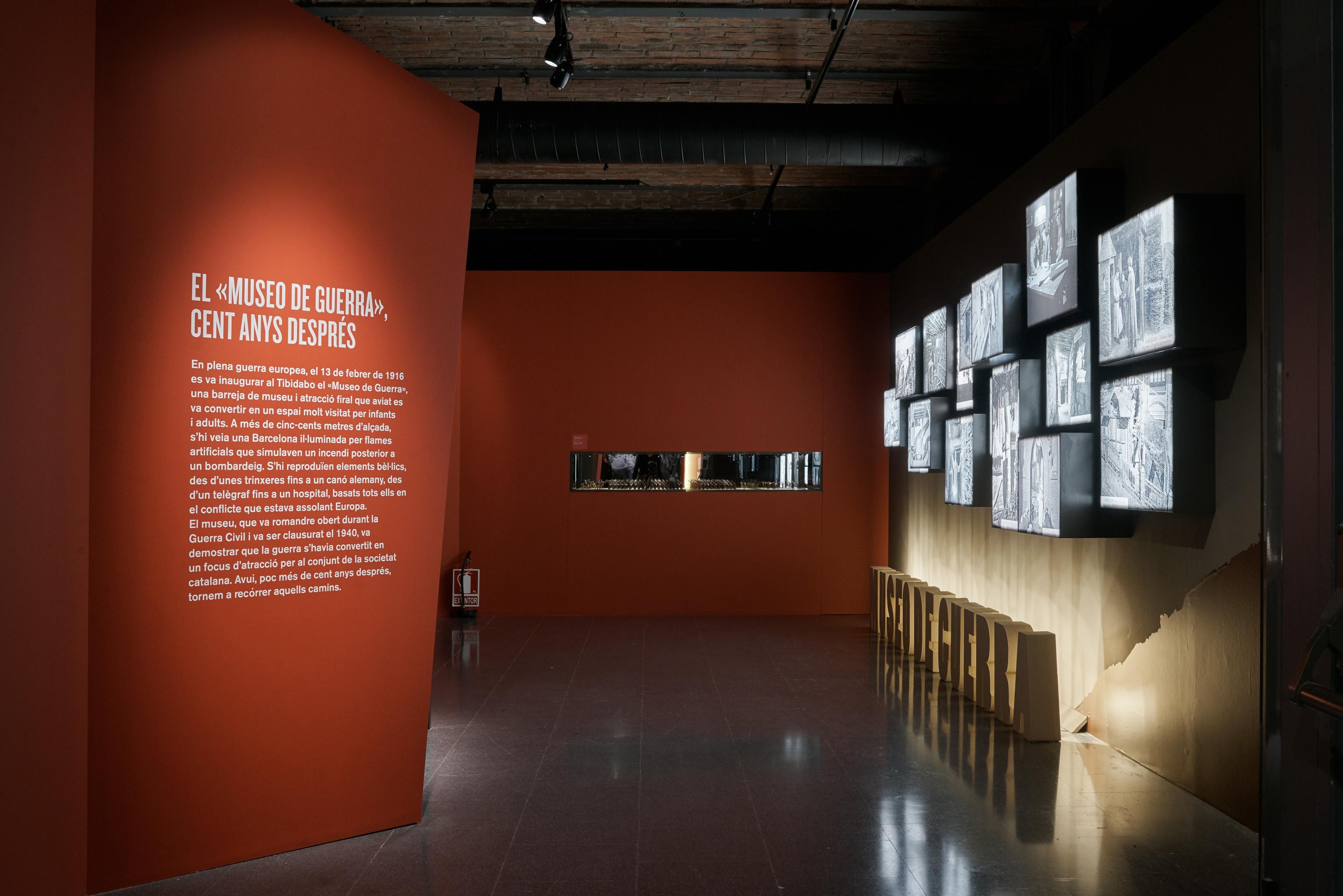 Inici de l'exposició «Flames a la frontera: Catalunya i la Gran Guerra»