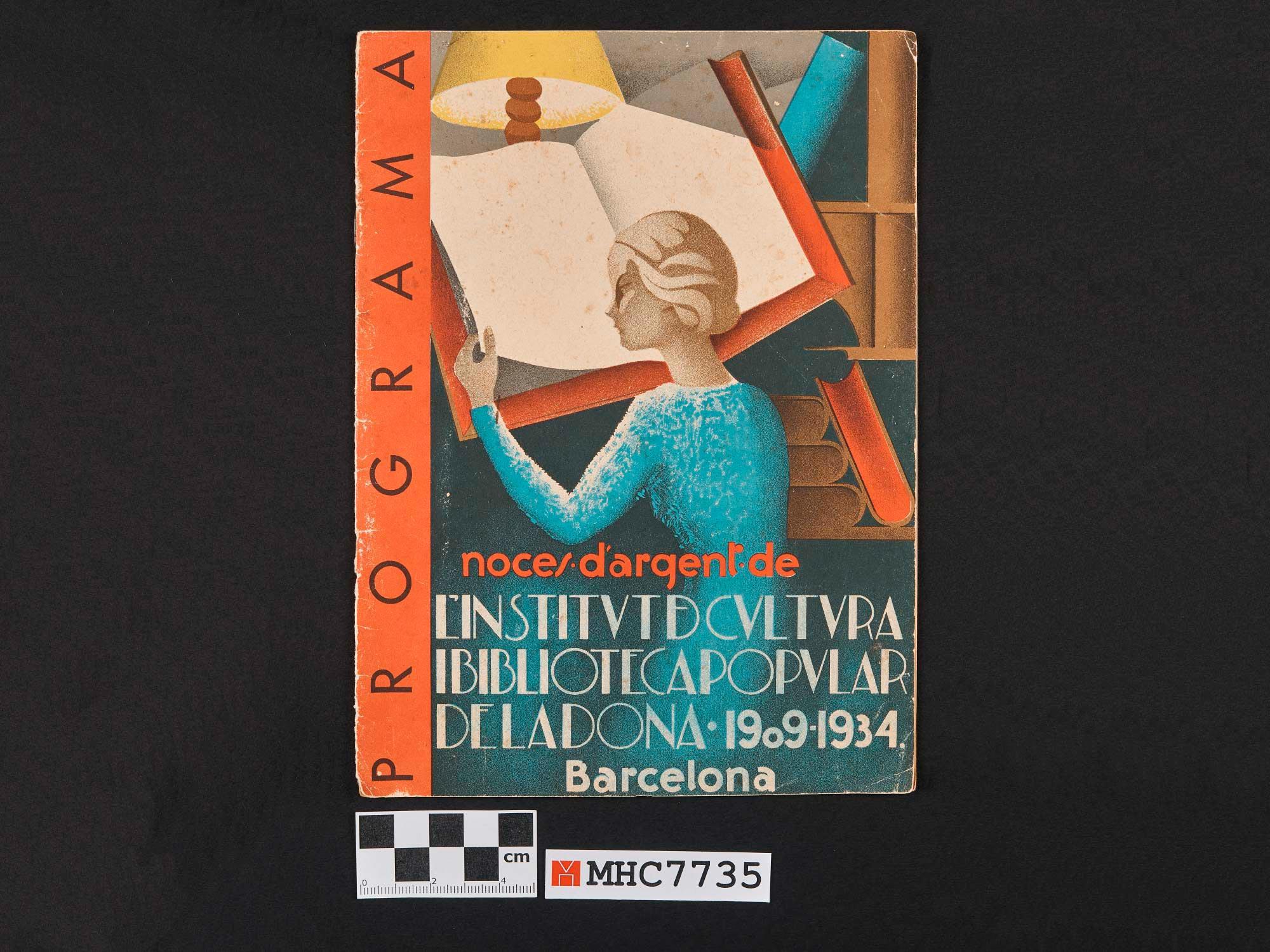 Programa de les festes i actes culturals de les noces d'argent de l'Institut de Cultura i Biblioteca Popular de la Dona