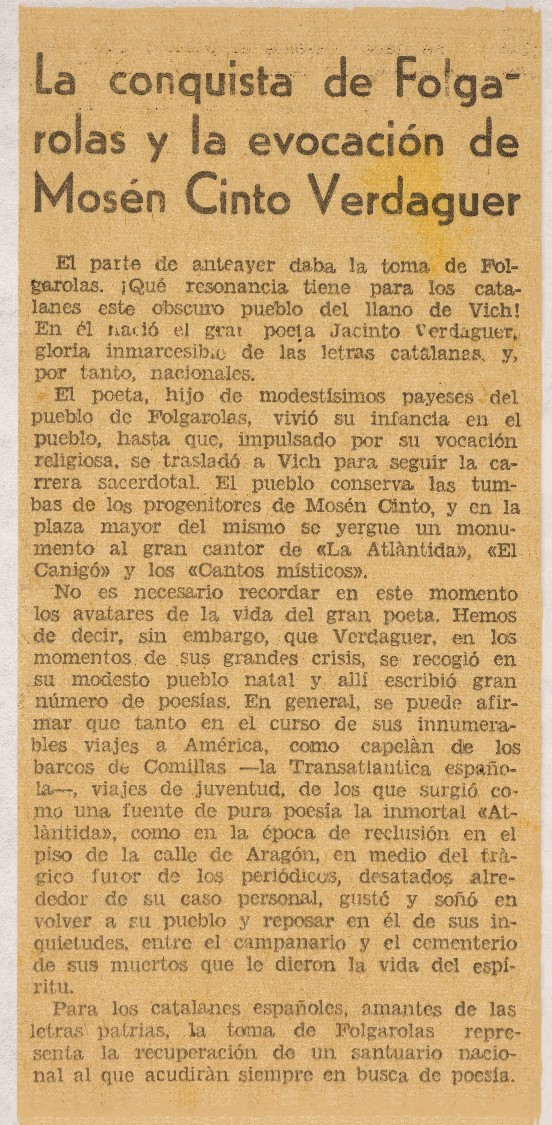 Retall 'La conquista de Folguerolas'