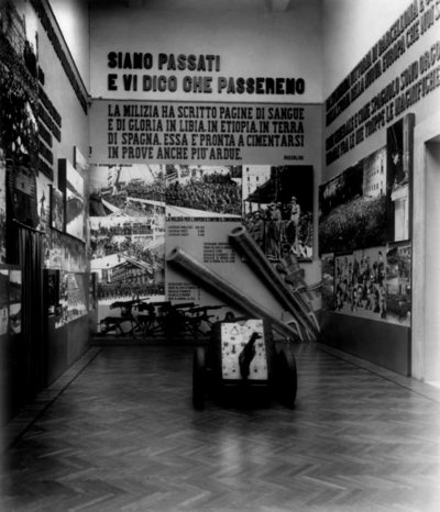 Sales dedicades a la Guerra Civil Espanyola dins de la Mostra della Rivoluzione Fascista