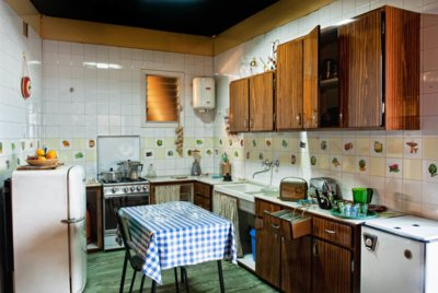 Escenografia d'una cuina dels anys 60